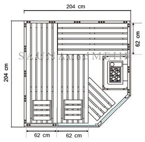 alaska new edition sauna eck massivholz 204x204 farblichlicht sternenhimmel ebay. Black Bedroom Furniture Sets. Home Design Ideas