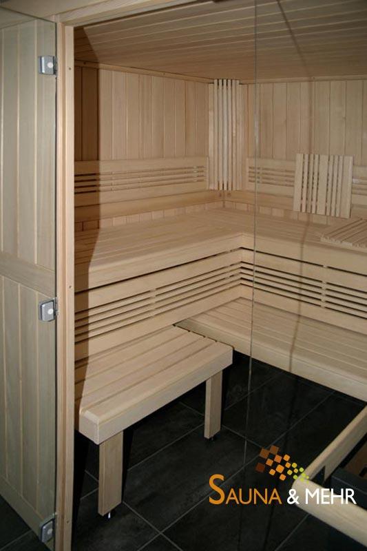 viliv komfort plus saunakabine 230 x 209 cm m teil glasfront wei tanne massiv ebay. Black Bedroom Furniture Sets. Home Design Ideas